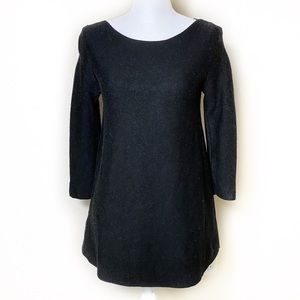 COS Wool 3/4 Sleeve Black Sweater